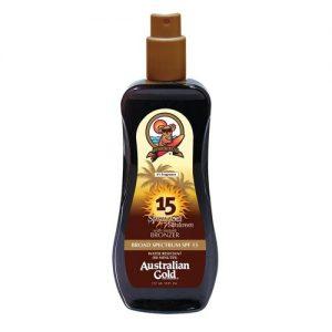 Australian Gold SPF 15 Spray Gel Sunscreen with Instant Bronzer