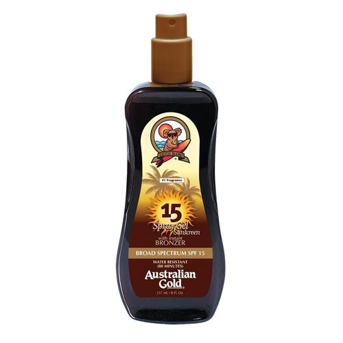 Australian Gold SPF 15 Spray Gel Sunscreen with Instant Bronzer