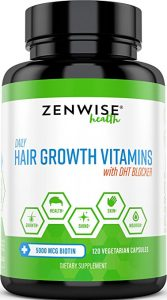 Hair Growth Vitamins Supplement - 5000 mcg Biotin & DHT Blocker Hair Loss Treatment for Men & Women