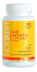 Nourish Hair Growth Vitamins – Nutraceutical Grade Hair Loss Supplement With Biotin and Powerful DHT Blockers - Fast Hair Regrowth Treatment for Men and Women