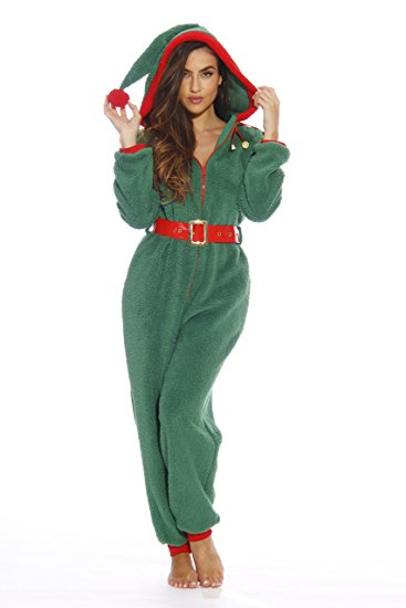 Adult Christmas Onesie For Women Sherpa One-Piece Pajamas