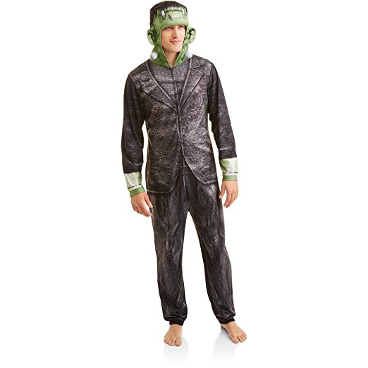 Adult Mens Frankenstein Onesie Union Suit One Piece Pajama Set