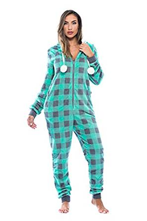 Just Love Buffalo Plaid Adult Onesie