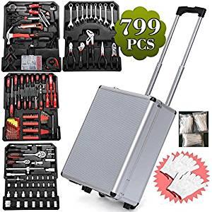 Yaheetech Mechanic Kit Box Case Toolbox Trolley
