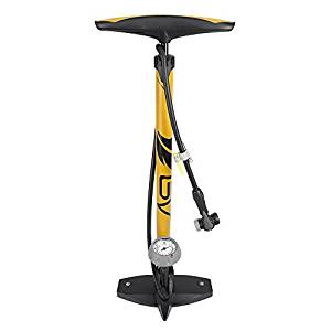 BV Bicycle Ergonomic Bike Floor Pump with Gauge